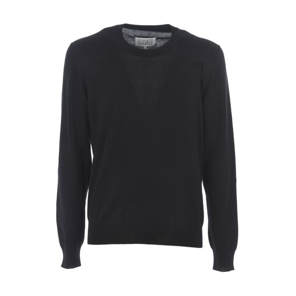 マルタンマルジェラ メンズ ニット&セーター アウター Elbow Patch Sweater Nero