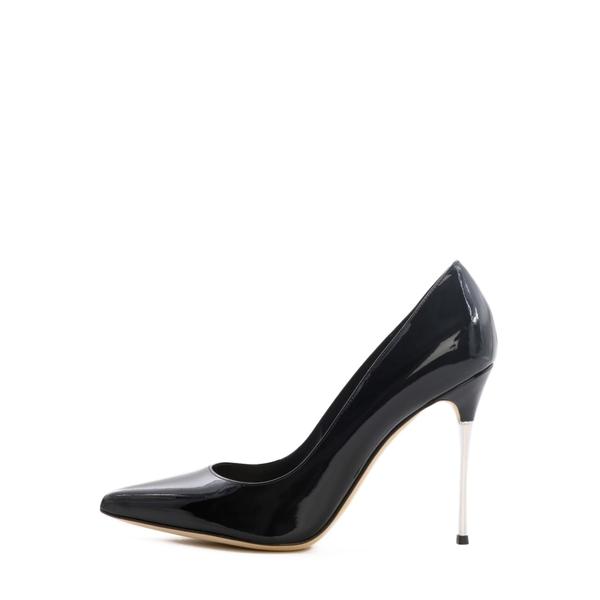 Pleaser SEDUCE-443 Single Soles Black Patent Criss Cross Strap Pump High Heels