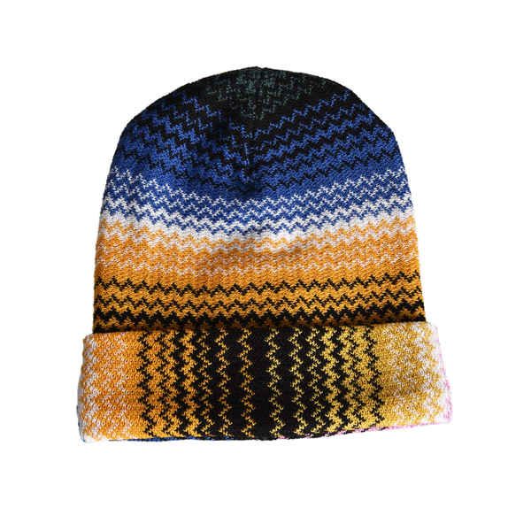 ミッソーニ レディース 帽子 アクセサリー Missoni Zigzag Knitted Beanie Multicolor