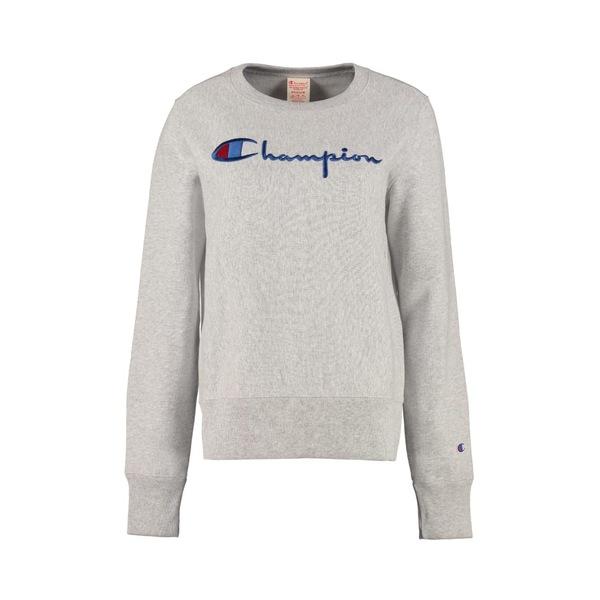 チャンピオン レディース パーカー・スウェットシャツ アウター Champion Logo Detail Cotton Sweatshirt grey
