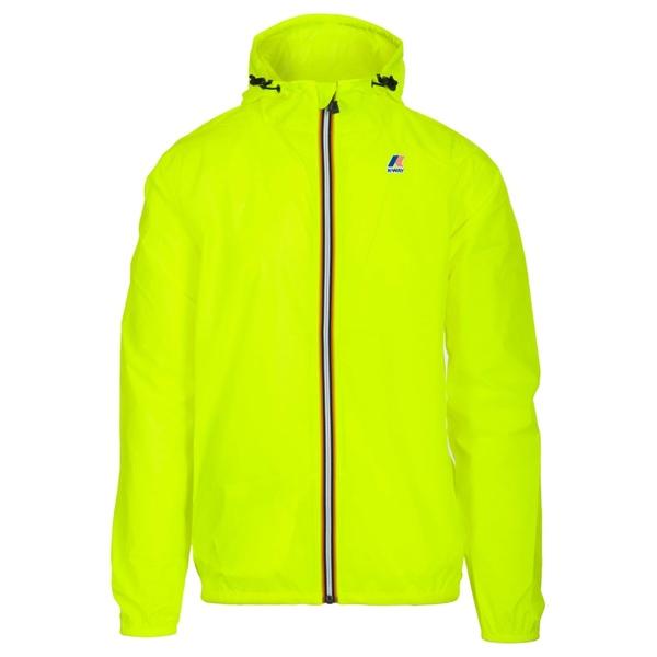 ケイウェイ メンズ ジャケット&ブルゾン アウター K-way Waterproof Jacket Yellowfluo