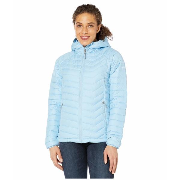 コロンビア レディース コート アウター Powder Lite Hooded Jacket Crystal Blue