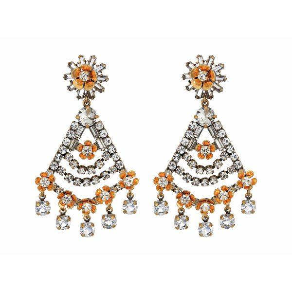 ジェイクルー レディース ピアス&イヤリング アクセサリー Magic Snowflower Earrings Crystal