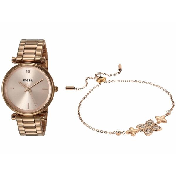 フォッシル レディース 腕時計 アクセサリー 35 mm Carlie Mini ES4685SET Rose Gold