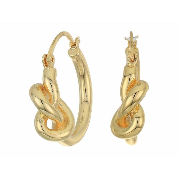 レベッカミンコフ レディース ピアス&イヤリング アクセサリー Twisted Knot Hoops Earrings Gold 1