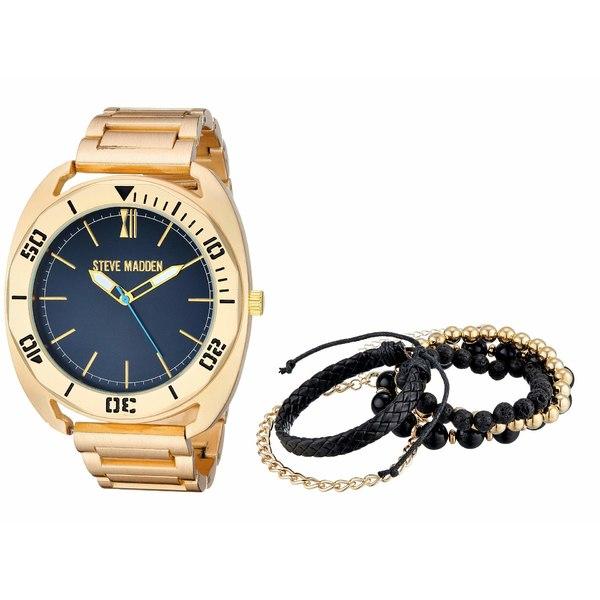 スティーブ マデン メンズ 腕時計 アクセサリー Watch and Multi Bracelet Set SMWS059 Gold