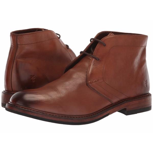 フライ メンズ ブーツ&レインブーツ シューズ Murray Chukka Cognac Washed Dip-Dye Leather