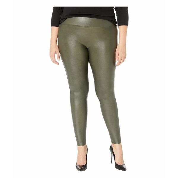 スパンク レディース カジュアルパンツ ボトムス Faux Leather Leggings Rich Olive