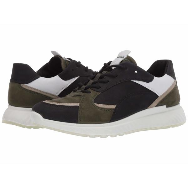 エコー メンズ スニーカー シューズ ST1 Trend Sneaker Black/Deep Forest/White/Sage