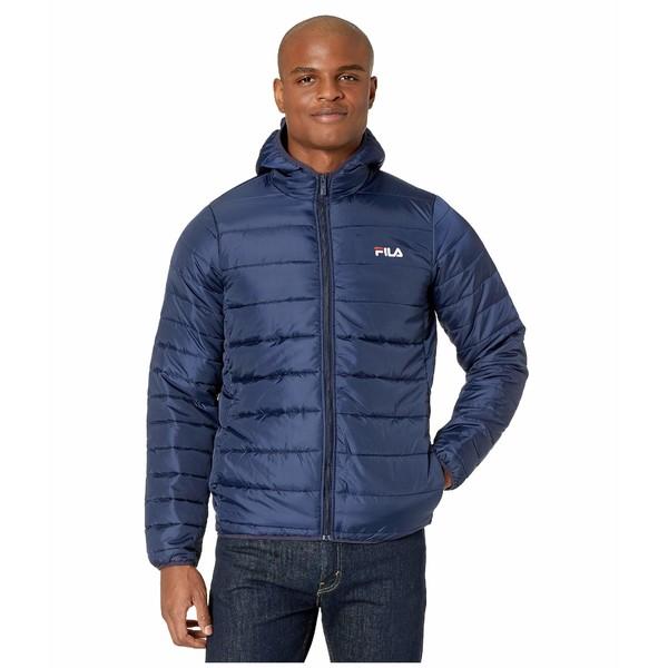 フィラ メンズ コート アウター Pavo Quilted Jacket Peacoat