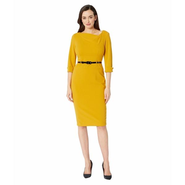 ドナモーガン レディース ワンピース トップス 3/4 Sleeve Cowl Neck Crepe Midi Dress Marigold
