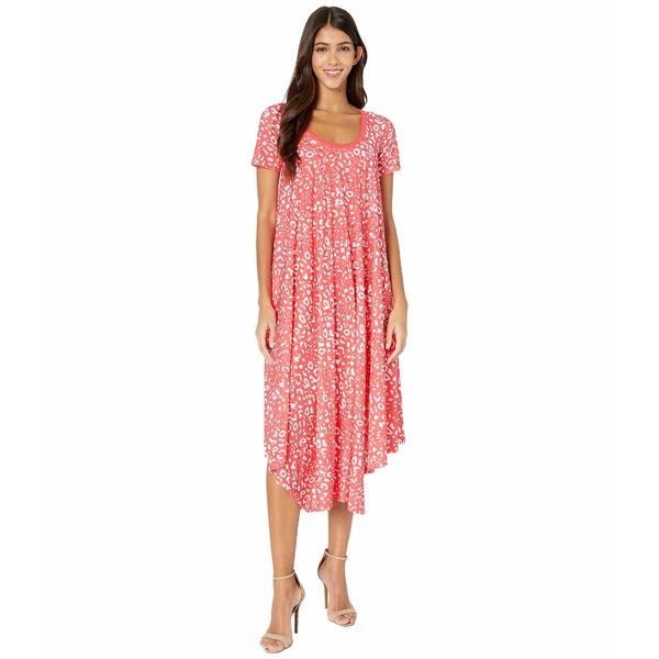 フィッジ レディース ワンピース トップス T-Shirt Knee Length Poppy Print Dress Caramella