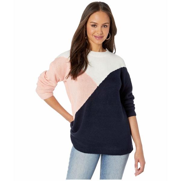 ビービーダコタ レディース ニット&セーター アウター Bunny Slope Color Block Crew Neck Sweater Oilslick