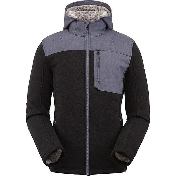 スパイダー メンズ ジャケット&ブルゾン アウター Spyder Men's Alps Full Zip Hoodie Fleece Jacket Black