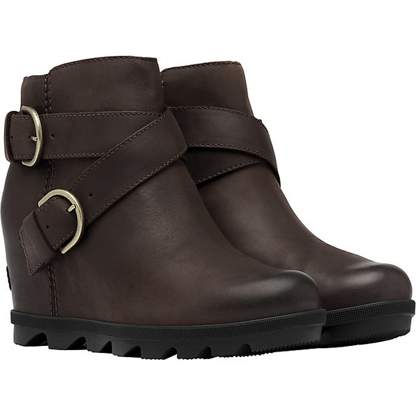 ソレル レディース ブーツ&レインブーツ シューズ Sorel Women's Joan Of Arctic Wedge II Buckle Boot Blackened Brown