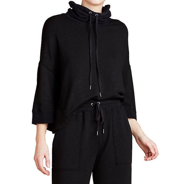 スプレンディット レディース シャツ トップス Splendid Women's Super Soft Pullover Black