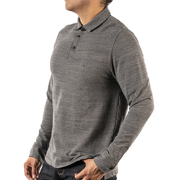 ジェレミア メンズ シャツ トップス Jeremiah Men's Bergen Stretch Space Dye Polo Gray Goose