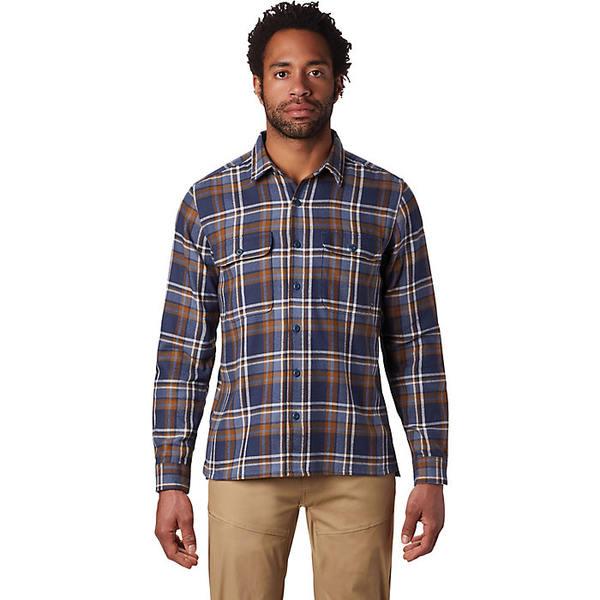 マウンテンハードウェア メンズ シャツ トップス Mountain Hardwear Men's Woolchester LS Shirt Zinc