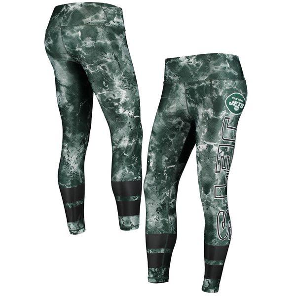 コンセプトスポーツ レディース カジュアルパンツ ボトムス New York Jets Concepts Sport Women's Dormer Knit Leggings Green/Black
