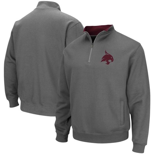コロシアム メンズ ジャケット&ブルゾン アウター Texas State Bobcats Colosseum Tortugas Logo QuarterZip Jacket Charcoal