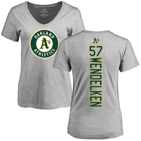 ファナティクス レディース Tシャツ トップス Oakland Athletics Fanatics Branded Women's Personalized Playmaker TShirt Ash