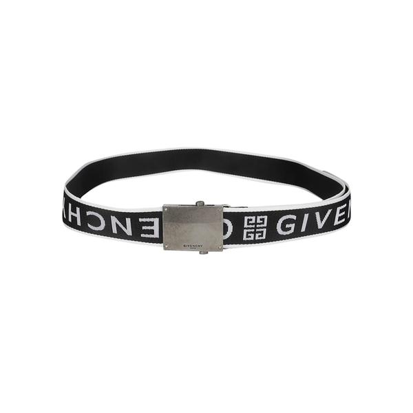 ジバンシー メンズ ベルト アクセサリー Givenchy Logo Strap Belt BlackWhite