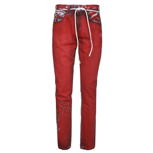 オフホワイト メンズ デニムパンツ ボトムス Off-White Denim Jeans Red
