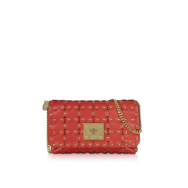 レッドヴァレンティノ レディース クラッチバッグ バッグ Red Valentino Flower Puzzle Genuine Leather Clutch Cherry