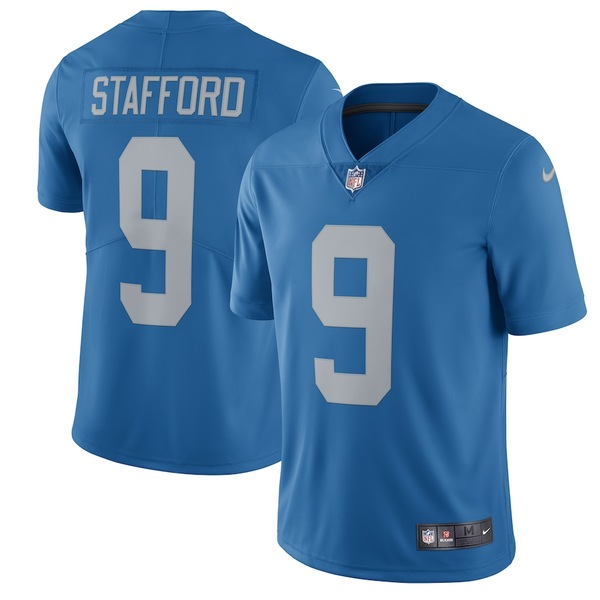 ナイキ メンズ シャツ トップス Matthew Stafford Detroit Lions Nike 2017 Throwback Vapor Untouchable Limited Player Jersey Blue