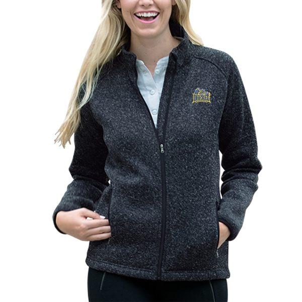 ビンテージアパレル レディース ジャケット&ブルゾン アウター Drexel Dragons Women's Summit Fleece Sweater Full-Zip Jacket Heather Navy