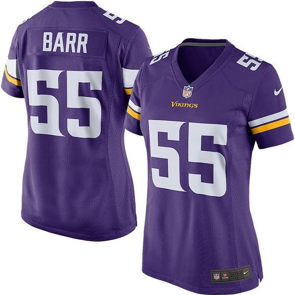 ナイキ レディース シャツ トップス Anthony Barr Minnesota Vikings Nike Women's Game Player Jersey Purple