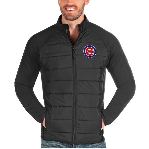 アンティグア メンズ ジャケット&ブルゾン アウター Chicago Cubs Antigua Altitude Full-Zip Jacket Charcoal