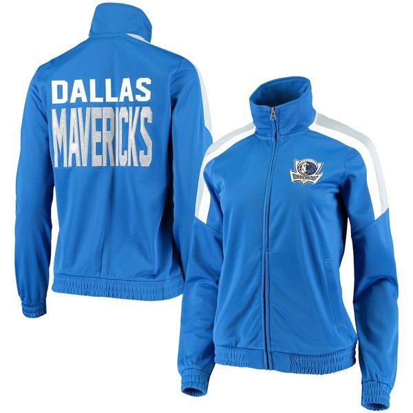 カールバンクス レディース ジャケット&ブルゾン アウター Dallas Mavericks G-III 4Her by Carl Banks Women's Jump Shot Full-Zip Track Jacket Blue