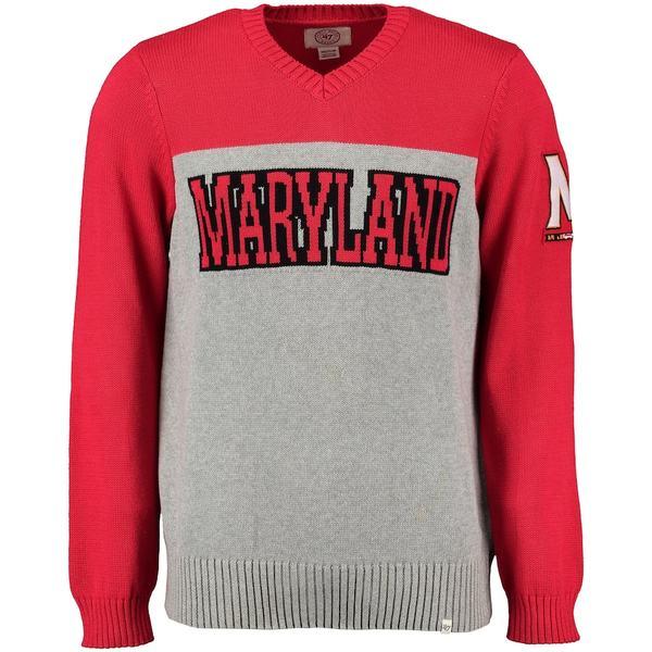 フォーティーセブン メンズ シャツ トップス Maryland Terrapins '47 Drop Back Sweater Gray