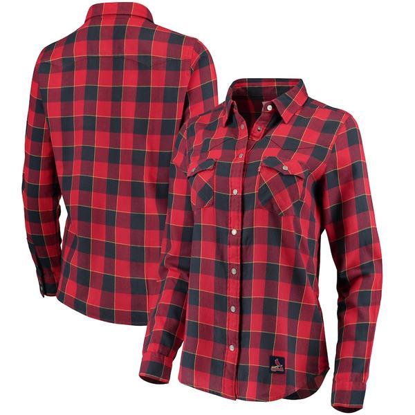 リーバイス レディース シャツ トップス St. Louis Cardinals Levi's Women's Western Full-Snap Shirt Red