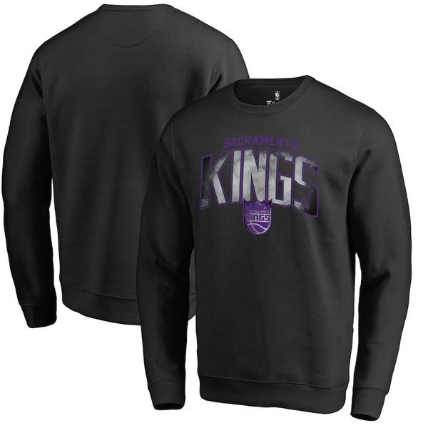 ファナティクス メンズ パーカー・スウェットシャツ アウター Sacramento Kings Fanatics Branded Arch Smoke Pullover Sweatshirt Black