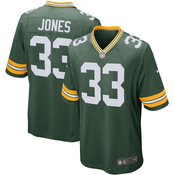 ナイキ メンズ シャツ トップス Aaron Jones Green Bay Packers Nike Player Game Jersey Green