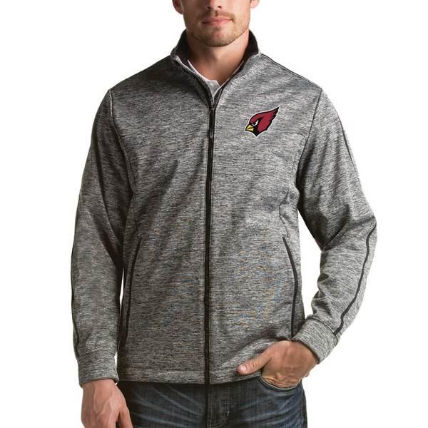 アンティグア メンズ ジャケット&ブルゾン アウター Arizona Cardinals Antigua Full-Zip Golf Jacket Heathered Black