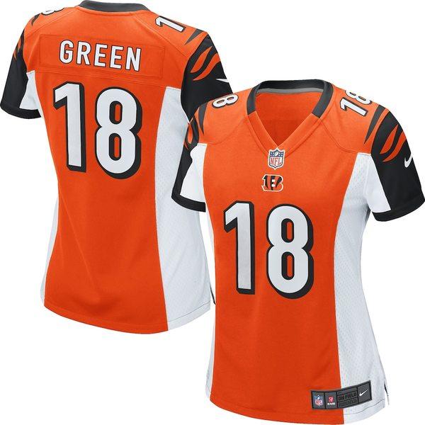 ナイキ レディース シャツ トップス AJ Green Cincinnati Bengals Nike Women's Game Jersey Orange