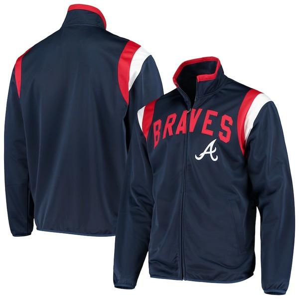 カールバンクス メンズ ジャケット&ブルゾン アウター Atlanta Braves G-III Sports by Carl Banks Post Up Full-Zip Track Jacket Navy