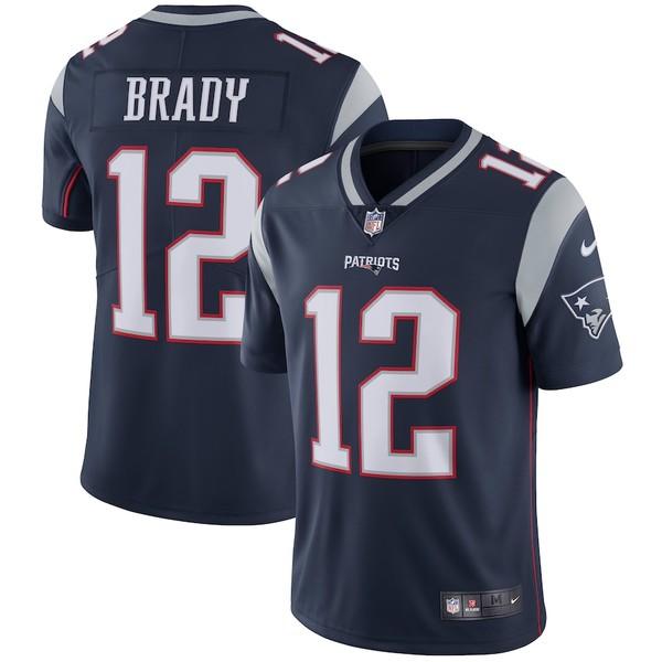 ナイキ メンズ シャツ トップス Tom Brady New England Patriots Nike Vapor Untouchable Limited Player Jersey Navy