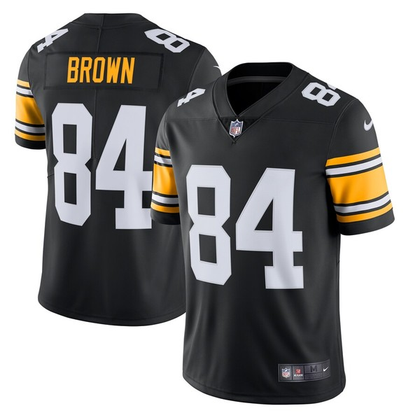 ナイキ メンズ シャツ トップス Antonio Brown Pittsburgh Steelers Nike Alternate Vapor Untouchable Limited Jersey Black