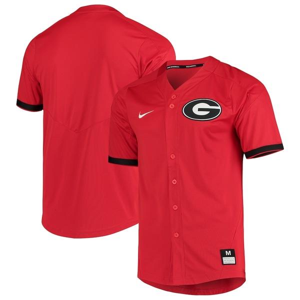 ナイキ メンズ シャツ トップス Georgia Bulldogs Nike Vapor Untouchable Elite Full-Button Replica Baseball Jersey Red