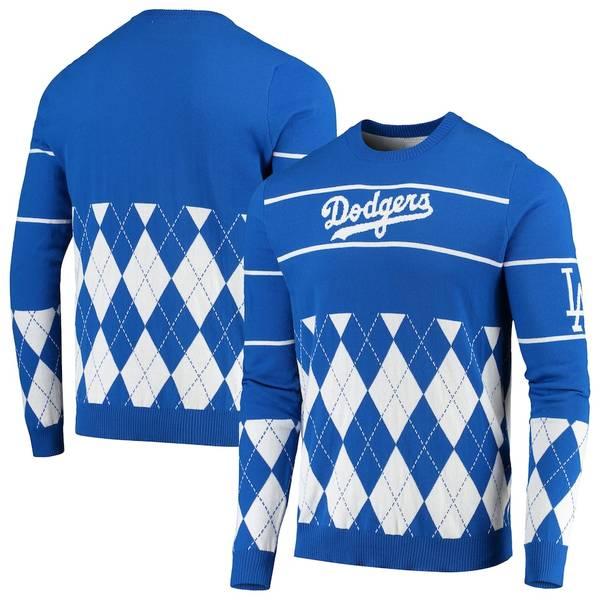 フォコ メンズ シャツ トップス Los Angeles Dodgers Retro Stripe Pullover Sweater Royal