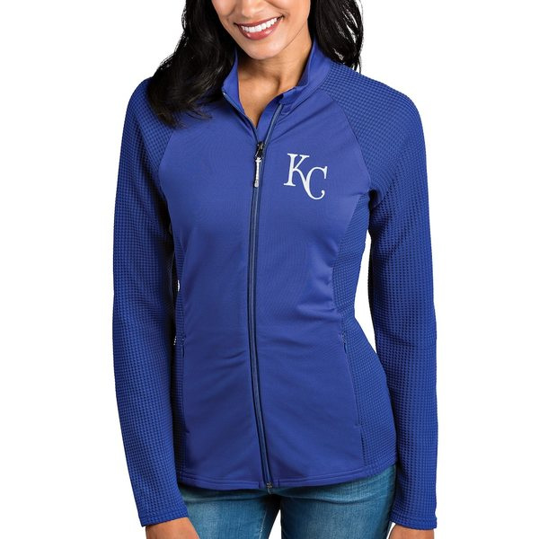 アンティグア レディース ジャケット&ブルゾン アウター Kansas City Royals Antigua Women's Sonar Full-Zip Jacket Royal