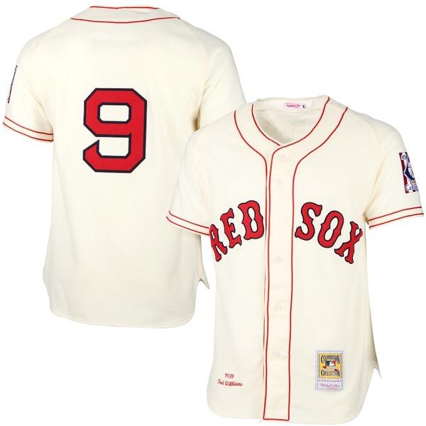 ミッチェル&ネス メンズ シャツ トップス Ted Williams Boston Red Sox Mitchell & Ness MLB Authentic Jersey Cream