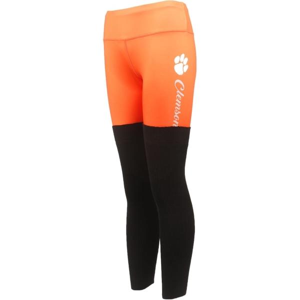 フォコ レディース カジュアルパンツ ボトムス Clemson Tigers Women's Polyester and Sweater Combo Leggings Orange