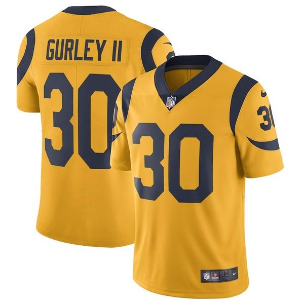 ナイキ メンズ シャツ トップス Todd Gurley II Los Angeles Rams Nike Vapor Untouchable Color Rush Limited Player Jersey Gold