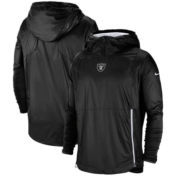 ナイキ メンズ ジャケット&ブルゾン アウター Las Vegas Raiders Nike Sideline Alpha Fly Rush Pullover Jacket Black