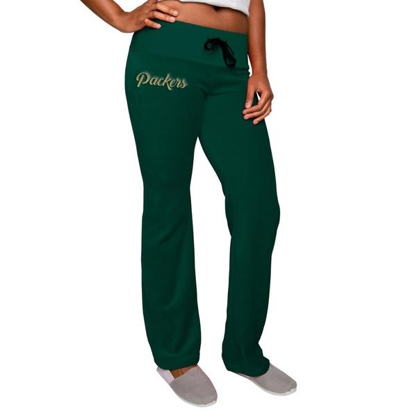 フォコ レディース カジュアルパンツ ボトムス Green Bay Packers Women's Velour Suit Pants Green